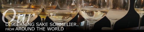 discerning sake sommelier from around the world
